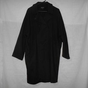 Topshop Black Long Jacket Womens Size 8